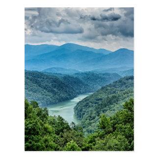 lake fontana aerial great smoky mountains north postcard