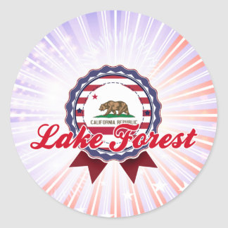 Lake Forest, CA Round Stickers