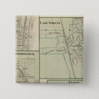 Lake Forest, Elgin, Waukegan, Woodstock Button