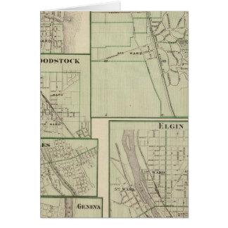 Lake Forest, Elgin, Waukegan, Woodstock Card