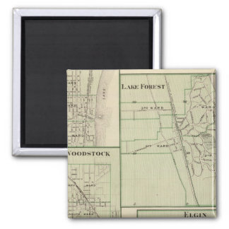 Lake Forest, Elgin, Waukegan, Woodstock Fridge Magnets