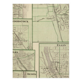 Lake Forest, Elgin, Waukegan, Woodstock Postcard