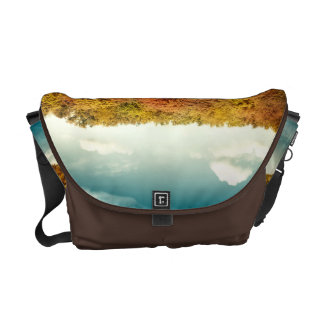 Lake Forest Trees Water Bag Tote Purse Courier Bags