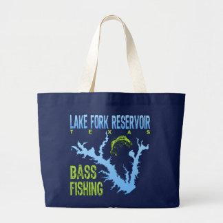 Lake Fork Reservoir Texas Bass Fishing Canvas Bags