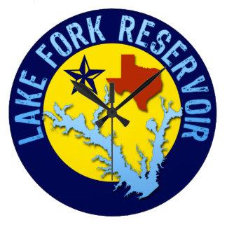 Lake Fork Reservoir, Texas Bass Fishing Wall Clocks