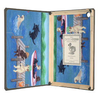 Lake Fun Labradors Painting Case For iPad Air