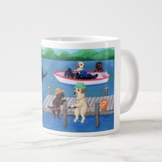 Lake Fun Labradors Painting Giant Coffee Mug