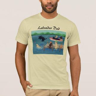 Lake Fun Labradors Painting T-Shirt