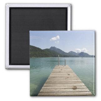 lake fuschl, salzkammergut, salzburg, salzburger 4 2 inch square magnet