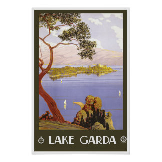 Lake Garda Italy Vintage Travel Poster