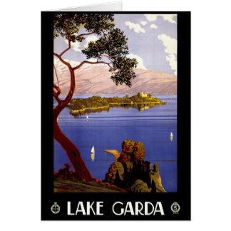 Lake Garda Vintage Poster Restored Card