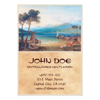 Lake Geneva and Mount Blanc Joseph Mallord William Large Business Cards (Pack Of 100)