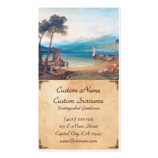 Lake Geneva and Mount Blanc Joseph Mallord William Double-Sided Standard Business Cards (Pack Of 100)