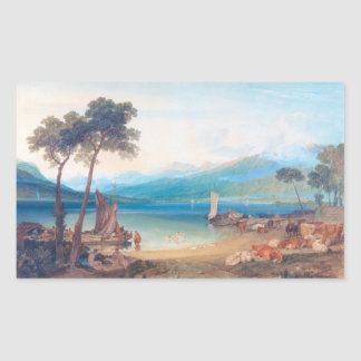 Lake Geneva and Mount Blanc Joseph Mallord William Rectangular Sticker