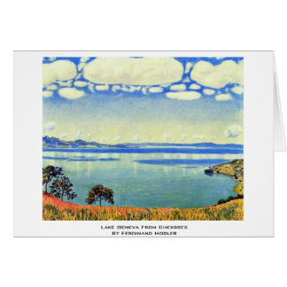 Lake Geneva From Chexbres By Ferdinand Hodler Greeting Card