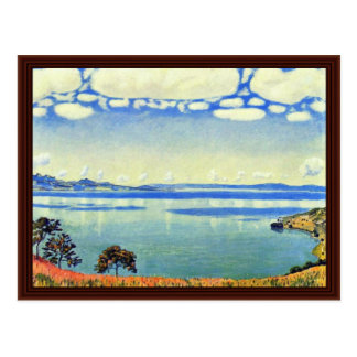 Lake Geneva From Chexbres By Ferdinand Hodler Postcard