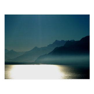 Lake Geneva Switzerland Postcard