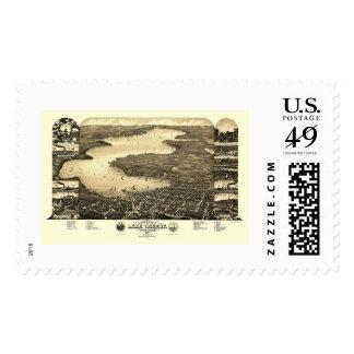 Lake Geneva, WI Panoramic Map - 1882 Postage