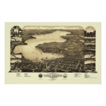 Lake Geneva, WI Panoramic Map - 1882 Poster