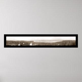 Lake Geneva WI Yerkes Photo 1910 Print