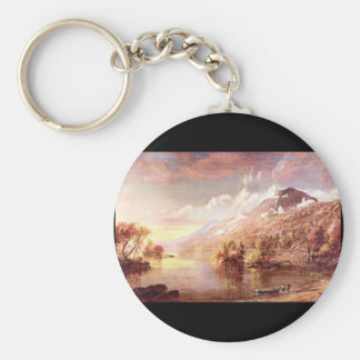 Lake George', Jasper F. Cropsey_Landscapes Keychain