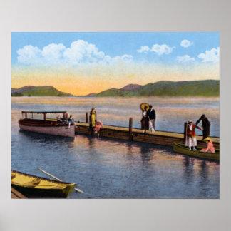 Lake George New York Hotel Marion Docks Print
