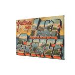 Lake George, New York - Large Letter Scenes Canvas Print