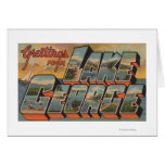 Lake George, New York - Large Letter Scenes Greeting Card