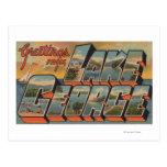 Lake George, New York - Large Letter Scenes Postcard