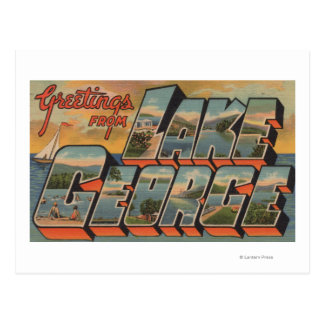 Lake George, New York - Large Letter Scenes Postcard
