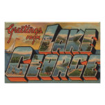 Lake George, New York - Large Letter Scenes Poster