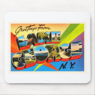 Lake George New York NY Vintage Travel Souvenir Mouse Pad