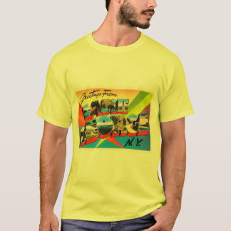 Lake George New York NY Vintage Travel Souvenir T-Shirt