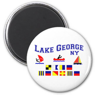 Lake George NY Signal Flags Magnet