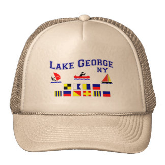 Lake George NY Signal Flags Trucker Hat