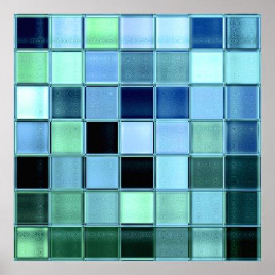 Mosaic Tiles Pattern Posters & Photo Prints