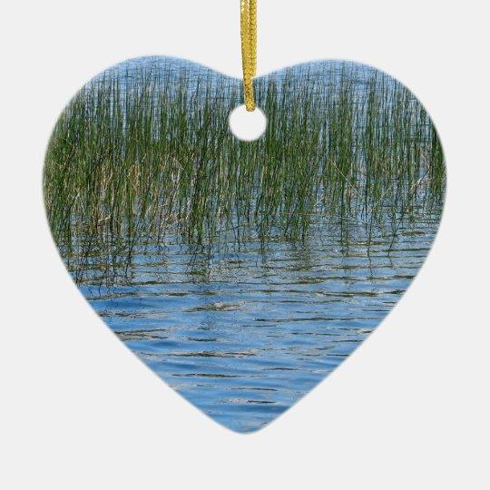 Lake Grasses Ceramic Ornament