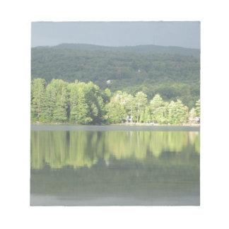 Lake Green Trees Reflection Memo Notepads