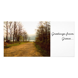 lake, Greetings from Greece... Customized Photo Card