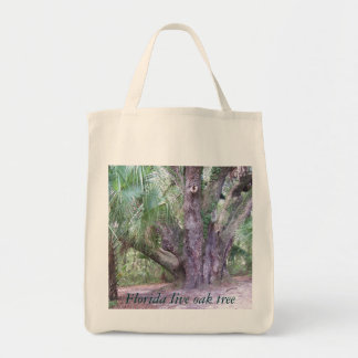 Lake Griffin Live Oak Tree Grocery Tote
