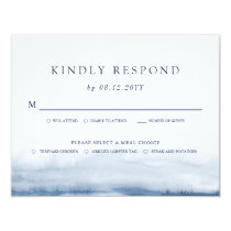 Lake Harbor Wedding Light Blue RSVP | Meals Card