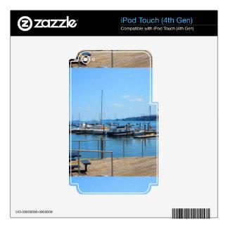 Lake Harbour SailBoats Lake view of Boston City iPod Touch 4G Skin