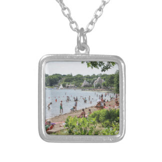 Lake Harriet Shoreline and Band Shell Silver Plated Necklace