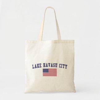 Lake Havasu City US Flag Tote Bag