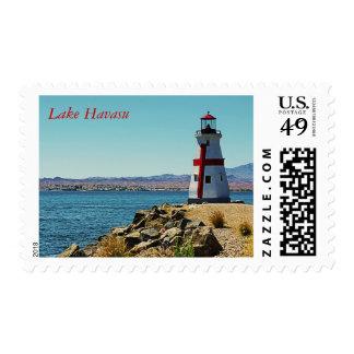 Lake Havasu Lighthouse Postal Stamp