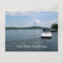 Lake Home New Address Postcards