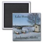 Lake Hood, Anchorage, Alaska Fridge Magnet