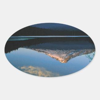 Lake Hood From Trillium Oregon Oval Sticker