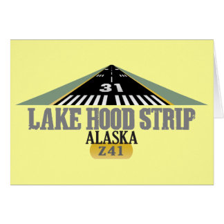 Lake Hood Strip Alaska - Airport Runway Greeting Card