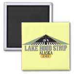 Lake Hood Strip Alaska - Airport Runway Refrigerator Magnet